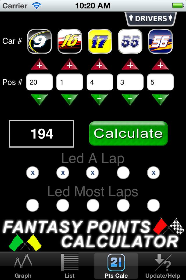 Screenshot Fantasy Points Plus